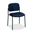 Basyx by HON VL606 Armless Guest Chair, Navy - Navy Blue Seat - Black Frame - 21.5
