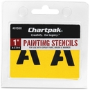 Chartpak Painting Letters & Numbers Stencil, 1