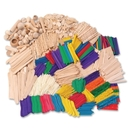 ChenilleKraft Wood Craft Classroom Activities Kit, 2100 Piece(s) - Natural