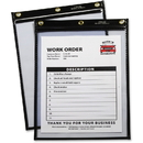 C-Line Products Heavy Duty Super Heavyweight Plus Stitched Shop Ticket Holder, Black, 9x12, 15/BX