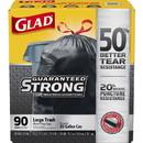 Glad 30-gallon Large Trash Drawstring Bags, CLO78952BD