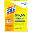 S.O.S Heavy Duty Steel Wool Soap Pads, CLO88320PL