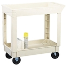Continental Two Shelf Utility Cart, 2 Shelf - 400 lb Capacity - 4 Caster - 17.5