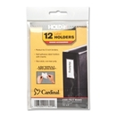 Cardinal HOLDit! Label Holders, 12 / Pack - Clear, CRD21820