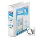 Cardinal XtraLife ClearVue Non-Stick Locking Slant-D Ring Binder, CRD26320