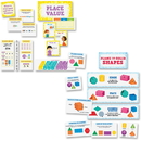 Creative Teaching Press Place Value/Shapes Bulletin Board Sets, CTC8907