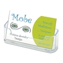 Deflect-o Desktop Business Card Holder, Plastic - 1 Each - Clear