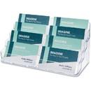 Deflecto Desktop Business Card Holder, Acrylic - 1 Each - Clear
