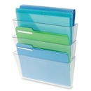Deflect-o Three Pack Stackable Letter Wall Pocket, 14