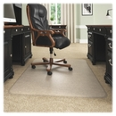 Deflect-o Beveled Edge Chair Mat, Carpeted Floor - 53
