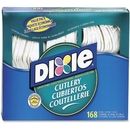 Dixie Foods Heavy-duty Cutlery, 168 Piece(s) - 168/Box - Plastic - White