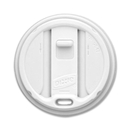 Dixie Smart Top Reclosable Hot Cup Lid, Round - Plastic - 100 / Pack - White