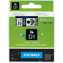 Dymo Black on Clear D1 Label Tape, 0.38