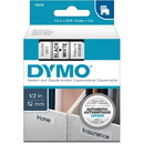 Dymo Black on White D1 Label Tape, 0.50