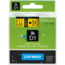 Dymo Black on Yellow D1 Label Tape, 0.50