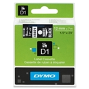 Dymo White on Black D1 Label Tape, 0.50