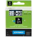 Dymo Black on Clear D1 Label Tape, 0.75