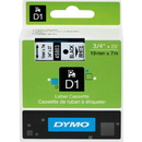 Dymo Black on White D1 Label Tape, 0.75