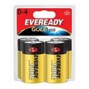 Eveready D Size Alkaline General Purpose Battery, 19500 mAh - D - Alkaline - 1.5 V DC