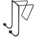 Fellowes Wire Partition Additions Double Coat Hook, 2 HookPlastic - Black