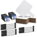 Flipside Rectangle Dry Erase Answer Paddle Set