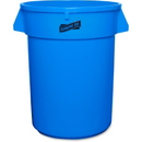 Genuine Joe Heavy-duty Trash Container, 32 gal Capacity - Plastic - Blue