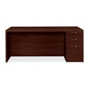 HON Valido 11500 Series Rectangular Top Right Pedestal Desk, 72