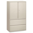 HON 800 Series Wide Lateral File with Storage Cabinet, 42