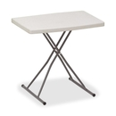 Iceberg IndestrucTable TOO 1200 Series Adjustable Personal Folding Table, Rectangle - 20