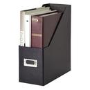Snap-N-Store SNS01637 Jumbo Magazine File, Black - Fiberboard, Metal Holder - 1 Each