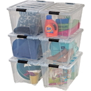 Iris Stackable Clear Storage Boxes, IRS100245