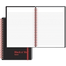 John Dickinson Black n' Red Perforated Notebook, 70 Sheet - 24 lb - Ruled - A5 5.88