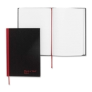 John Dickinson Black n' Red Recycled Casebound Notebook, 96 Sheet - 24 lb - Ruled - A5 5.63