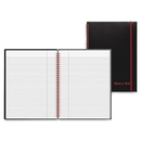 John Dickinson Black n' Red Perforated Notebook, 70 Sheet - 24 lb - Ruled - 8.25