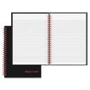 John Dickinson Black n' Red Wirebound Notebook, 70 Sheet - 24 lb - Ruled - A5 5.88