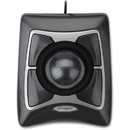 Kensington Expert Mouse Trackball - USB w/PS2 Adapter, Optical - Cable - Black, Silver - USB, PS/2