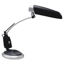 Ledu Spectrum Desk Lamp, 1 x 13 W Fluorescent Bulb - Swivel Arm, Weighted Base - Black, Silver