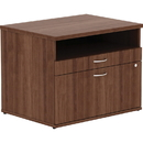 Lorell Walnut Open Shelf File Cabinet Credenza, LLR16231