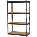 Lorell 2,300 lb Capacity Riveted Steel Shelving, LLR59696