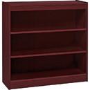 Lorell Panel End Hardwood Veneer Bookcase, 36
