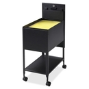 Lorell Standard Mobile File, 1 Shelf - 4 Caster - 13.5