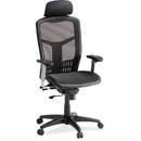 Lorell High-Back Mesh Chair, Mesh Black Seat - Mesh Back - Plastic, Steel Frame - 28.5