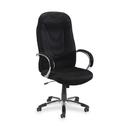 Lorell Airseat High-Back Fabric Chair, Fabric Black Seat - Aluminum Frame