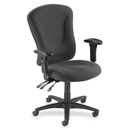Lorell Accord Managerial Mid-Back Task Chair, Gray - Polyester Gray Seat - Black Frame