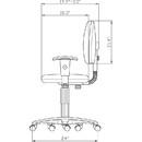 Lorell Millenia Pneumatic Adjustable Task Chair, Black Seat - 24
