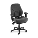 Lorell Baily High-Back Multi-Task Chair, Acrylic Gray Seat - Black Frame - 26.9