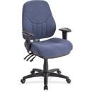 Lorell Baily High-Back Multi-Task Chair, Acrylic Blue Seat - Black Frame - 26.9