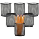 Lorell Black Mesh/Wire Pencil Cup Holder, LLR84149BX
