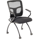 Lorell Mesh Back Fabric Seat Nesting Chairs, LLR84374