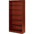 Lorell Six Shelf Panel Bookcase, 36